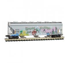 Micro Trains #09344150 ACFX 'Christmas' graffiti Hopper