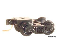 Micro Trains #00310044 (1038-10) Barber Roller Bearing Trucks with Long Extension RDA Couplers (10 pair, Assembled)