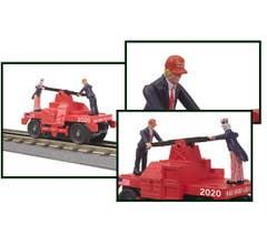 MTH #30-5189 Donald Trump Republican Operating Hand Car