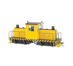 Bachmann #29203 Whitcomb 50-Ton Center-Cab Diesel - DCC on board Sound Ready - Unlettered Yellow w/Stripes