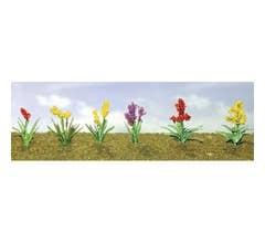 """JTT #95560 Flower Plants Assortment #2, 1"""" Wide (10/pk)"""