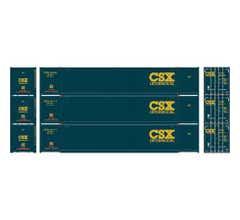 Athearn #28494 53' CIMC Container CSX #1 (3)