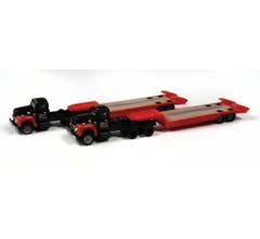 Classic Metal Works #51193 1954 International Harvester R-190 with Lowboy Trailer - Bonito Contractors (2pcs)