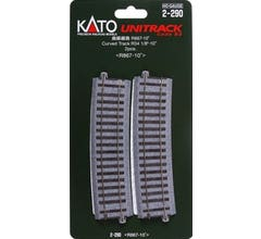 """Kato #2-290 867mm (34 1/8"""") Radius 10º Curve Track [2 pcs]"""