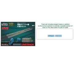 Kato #3-113 HV3 Interchange track set with #4 Electric Turnouts