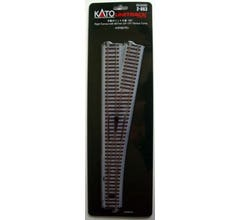 """Kato #2-863 #6 492mm (19 3/8"""") Manual Right Turnout with 867mm (34 1/8"""") Radius Curve"""