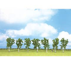 Walthers #949-1164 Birch Trees w/ Flat Base (7 pcs) - 3-15/16in Tall