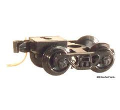 Micro Trains #00302032 Roller Bearing Trucks with Medium Extension Couplers (1 pair, Assembled) (1033)