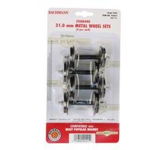 Bachmann #92421 Large Metal Wheel Set (4 per card) 31.0 mm
