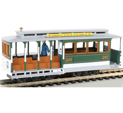 Bachmann #60536 Cable Car with Grip Man - Green/Gray