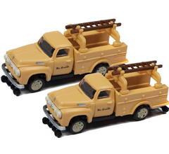 Classic Metal Works #50386 1954 Ford Hi-Rail Maintenance Truck- Denver & Rio Grande Western (2 Pack)