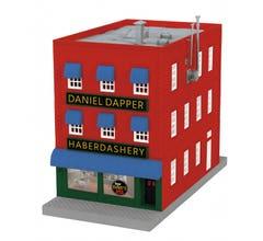 MTH #30-90567 Dapper Dan Haberdashery City Building w/Blinking Sign
