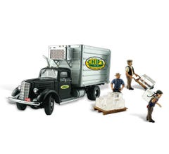 Woodland Scenics AS5557 AutoScenes w/Figures & Accessories Chip's Ice Truck