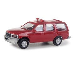 Walthers 949-12040 Ford Expedition Special Service Vehicle (SSV) - Red Fire Command decals