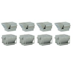 Walthers 933-4077 HVAC Units -- Kit - 4 Each of 2 Styles