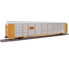 Walthers #920-101421 89' Thrall Enclosed Tri-Level Auto Carrier - CSX Rack ETTX Flat #T9046/710155