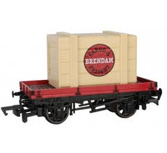 Bachmann #77402 Thomas & Friends - 1 PLANK WAGON WITH BRENDAM CARGO & FREIGHT CRATE