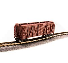 Broadway Limited #3580 Unlettered Oxide Red Stock Car Sheep Sounds N