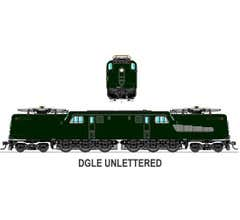 Broadway Limited #3452 GG1 Electric Unlettered DGLE Paragon3 Sound/DC/DCC