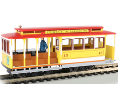 Bachmann #60538 Cable Car with Grip Man - Yellow/Red