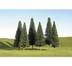 """Bachmann #32201 8"""" - 10"""" Pine Trees three pieces per pack"""