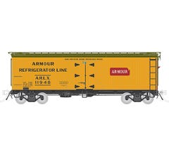 Rapido #121051 GARX 37' Meat Reefer- Armour 4 pack