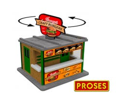Williams #39122 O Scale Jimmy's Burger Stand w/Light & Rotating Sign- KIT