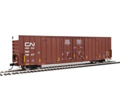 Walthers #910-2963 60' High-Cube Plate F Boxcar - Canadian National DWC #795017 (Boxcar Red, Website Noodle Logo)