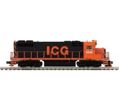MTH #20-21307-1 GP38-2 Diesel Engine With Proto-Sound 3.0 (Hi-Rail Wheels) - Illinois Central Gulf #9560