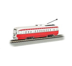 Bachmann #60505 Allegheny Transit - Pittsburgh PCC Street Car with Sparking Trolley Pole (DCC Sound Value-Equipped)