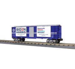 MTH #30-71052 40' Window Box Car w/Ballot Boxes - Democratic National Committee (Milwaukee)