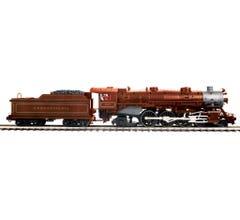 MTH #20-3819-1 4-6-2 USRA Heavy Pacific Steam Engine w/Proto-Sound 3.0 - Pennsylvania (Tuscan w/Gold Striped Drivers) Cab # 8710