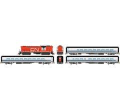 Rapido #131504 VIA Rail Tempo – Loco w/DC/DCC/Sound &Three Car Set