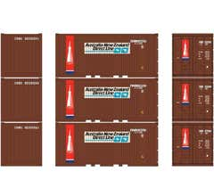 Athearn #27837 20' Corrugated Container w/Panel ANZ (3pcs)