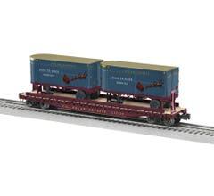 Lionel #2026671 Polar Express 50' Flatcar w/ 20' Trailers #122420