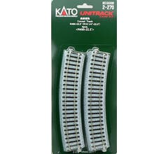 """Kato #2-270 Unitrack 22.5"""" radius curve 4 pieces"""