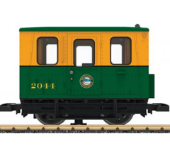 LGB #20061 WP&YRR Gang/Motor Transition Car-Yellow/Green