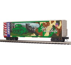 MTH #20-93757 50' Dbl. Door Plugged Boxcar - UP-Army