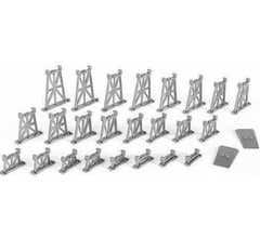Bachmann 42523 Bridges Graduated Trestle Set (26 Pieces) (For Atlas Snap Track only)