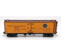 InterMountain #47401 PFE Wood Refrigerator Car - PFE Single Herald