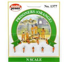 Model Power #1377 Prisoners (Orange overalls)