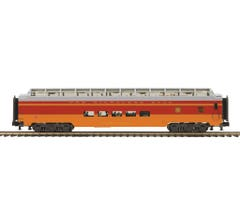 MTH #20-64166 70' Streamlined Full Length Vista Dome Passenger Car (Smooth Sided) - Milwaukee Road