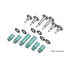 PIKO #36093 Crankpins - Starter Set Wheels Set of 6