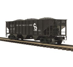 MTH #20-97964 70-ton 3-Bay Hopper Car - Chesapeake & Ohio