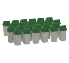 Walthers #949-4174 Modern Trash Cans (24 pcs)