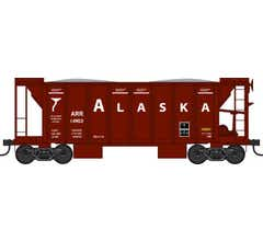 Bowser #42780 70 Ton 2 Ballast Car with Side Chutes- Alaska #14903