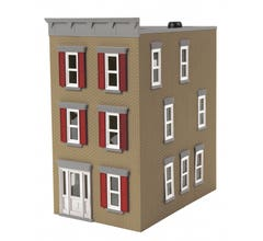 MTH #30-90601 3-Story Town House #2 - Building Tan