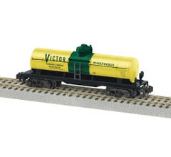 American Flyer #2119370 Victor Chemical Single Dome Tank Car #32478