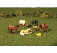 Bachmann #33169 O Scale HORSES 6pc/pk