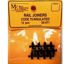 Micro Engineering #26-071 Rail Joiners, Plastic Insulated, Code 70 (12)